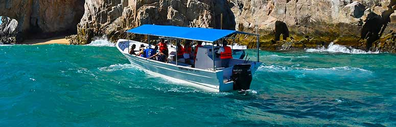 Tour boat sailing at Cabo's seas