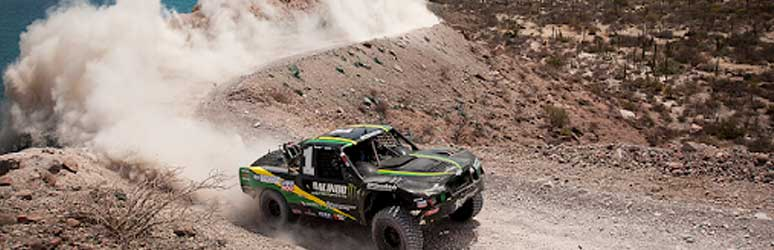 Offroad truck racing at Baja