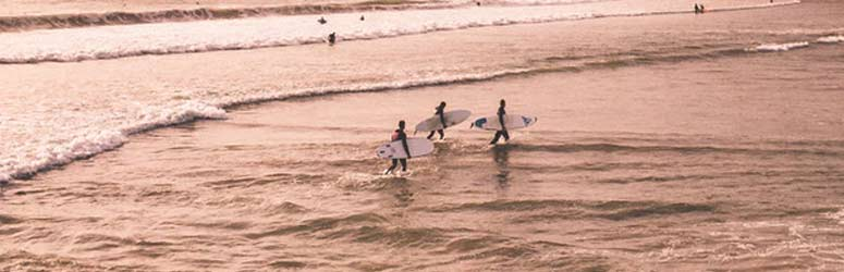 People catching waves at Todos Santos, Baja Sur